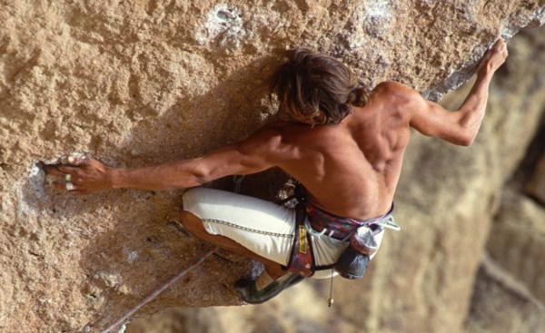 "USA - climbing in Smith Rocks Oregon - ""Chain Reaction"" 5.12c"