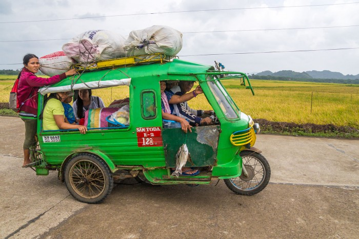 Tricycle auf den Philippinen