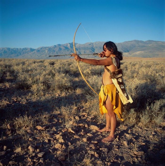Native Americans - Paiute - Shoshone -man with bow and arrow