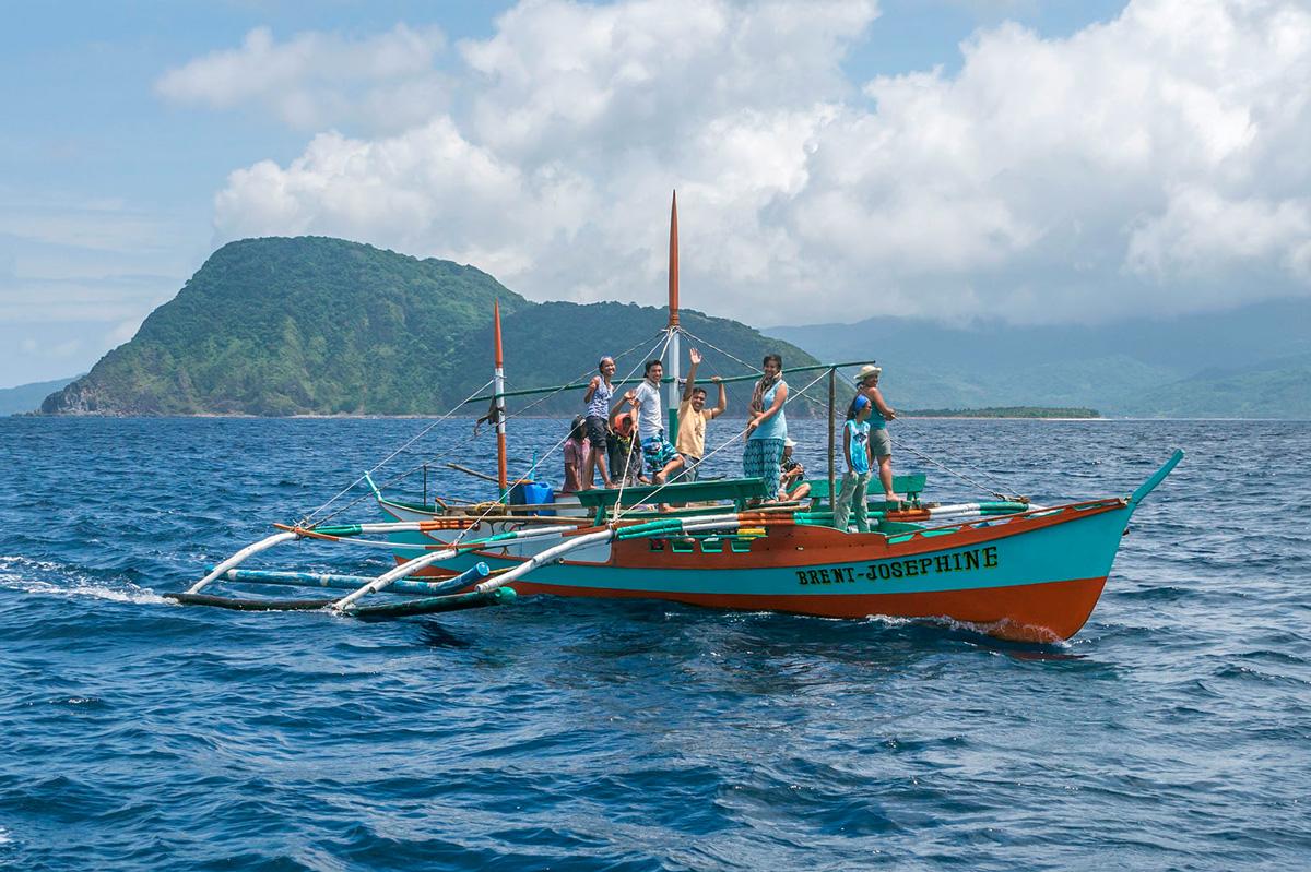 Philippines - Calayan, Cagayan islands - Balyena whale watching boat