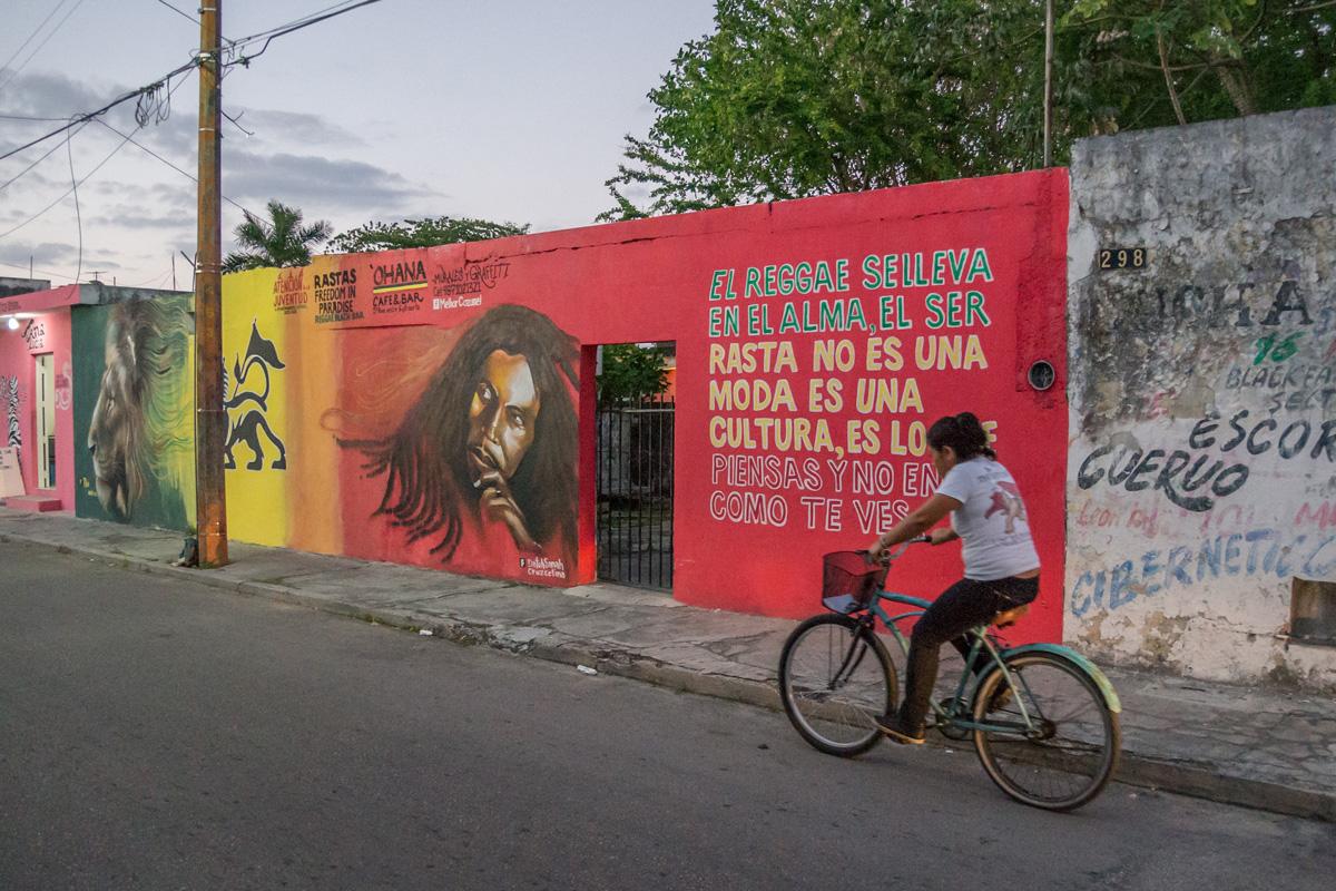 Mexico, Cozumel, Radfahrer, Biker