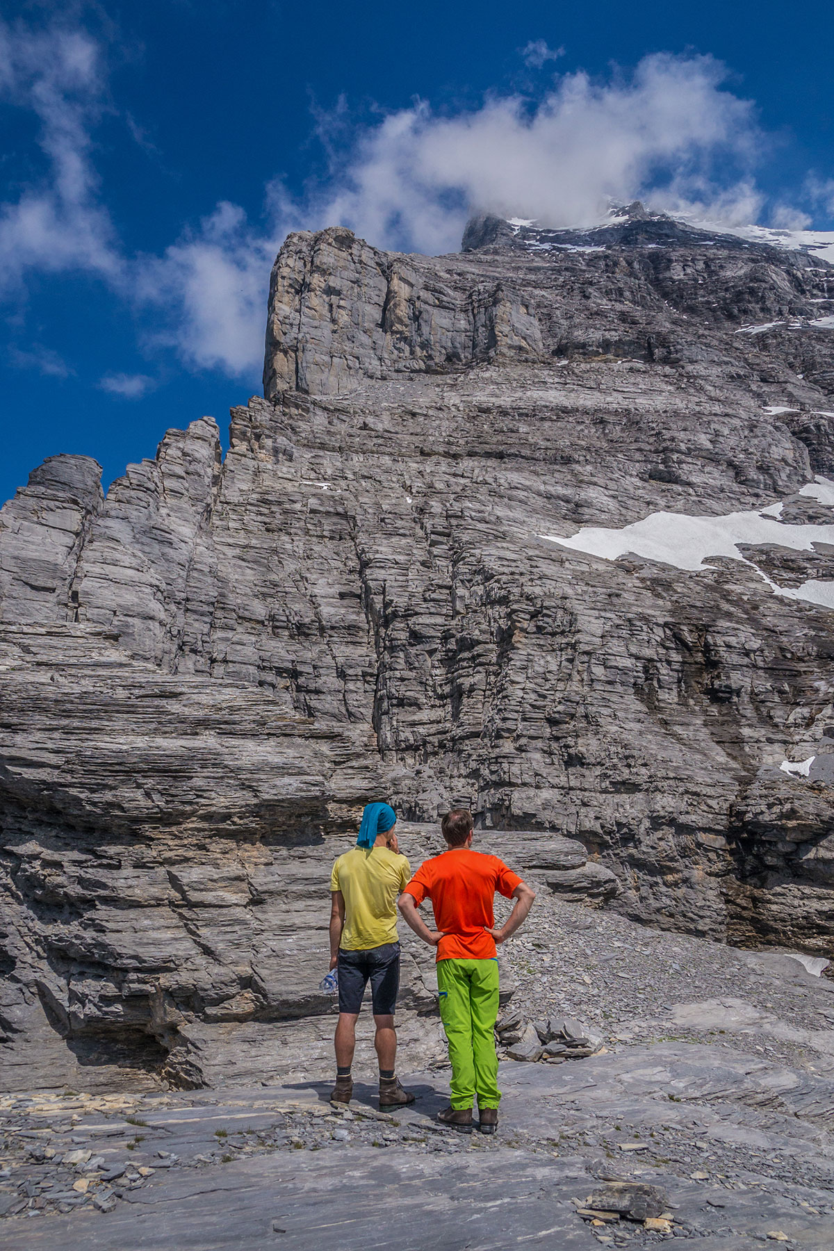 Mathias Weck and Felix Mehne before the ascent of Eiger north face on the route