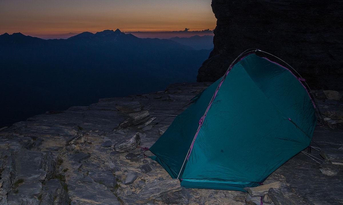 Biwak am Rotstock vor der Eiger Nordwand - Sonnenaufgang