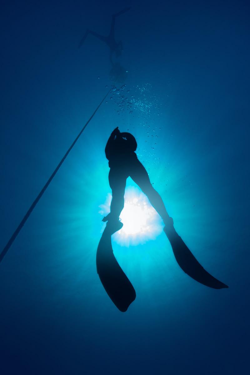 Moalboal, Cebu, Philippines - Freediver