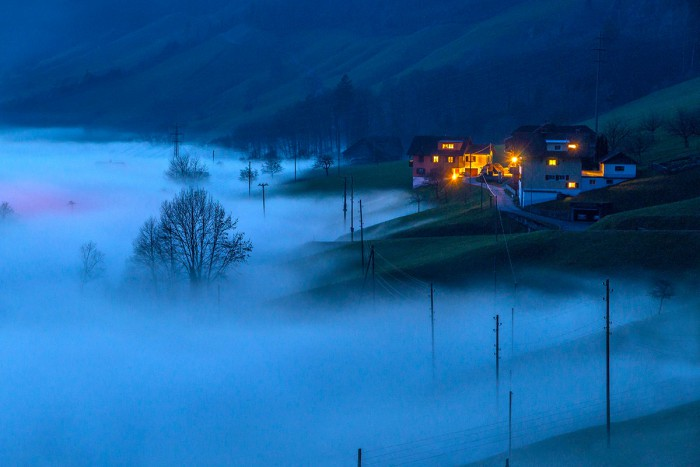 Alpnachersee - fog in the evening