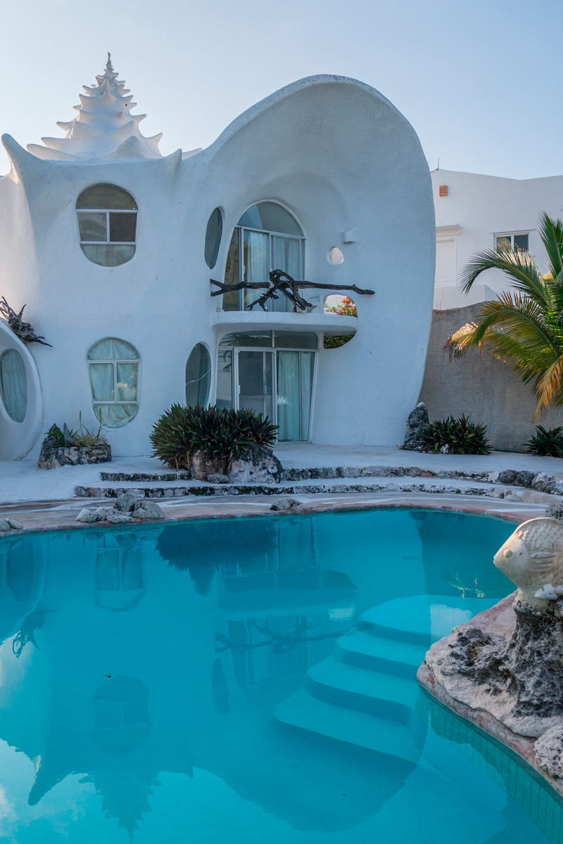 Mexico, Isla Mujeres, Muschel Haus