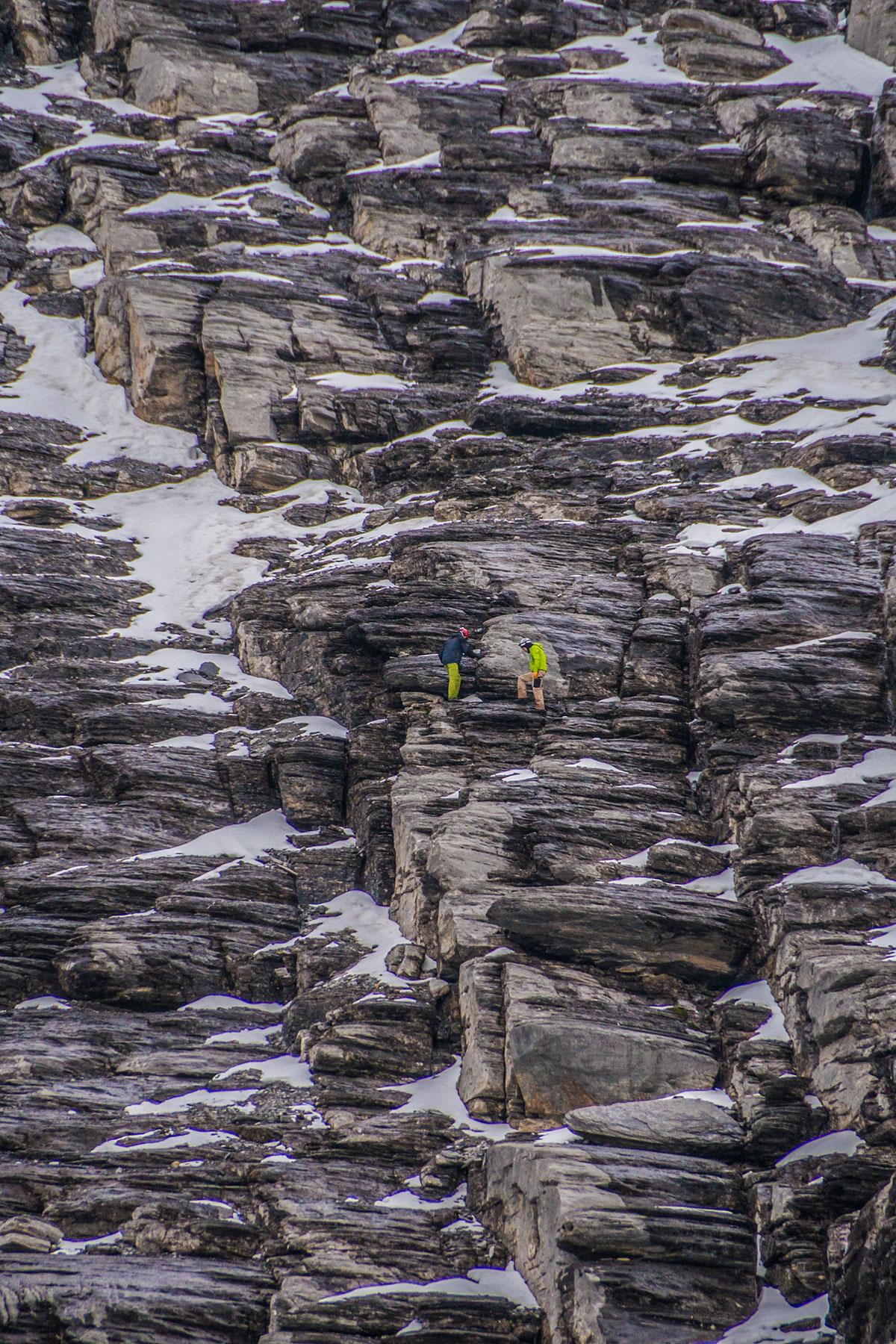 Eiger north face - ascent to the climb