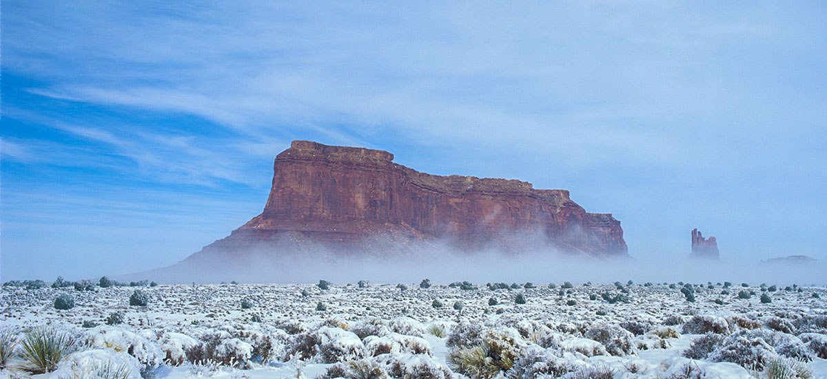 USA - Monument Valley in winter