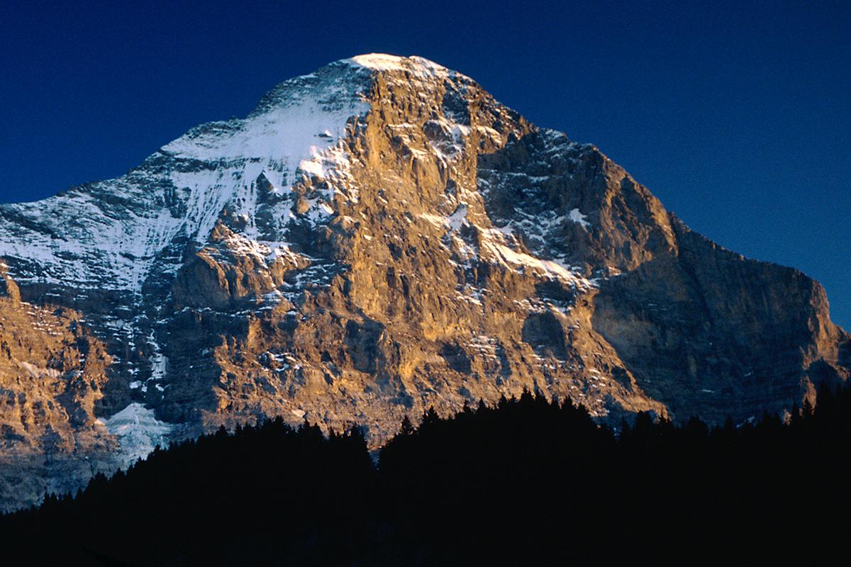 Eiger Nordwand von Grindelwald - Fotograf: Rollo Steffens