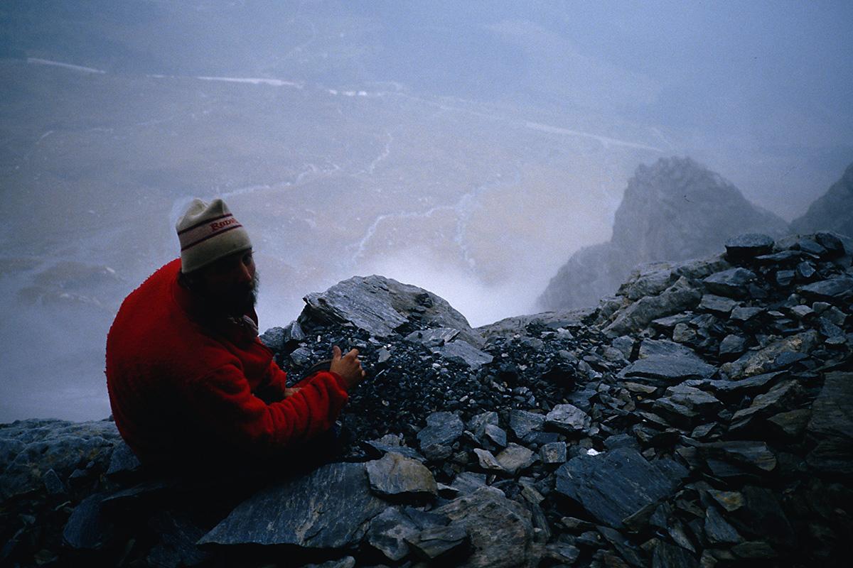 Biwakplatz in der Eiger Nordwand am Beginn des Ersten Pfeilers
