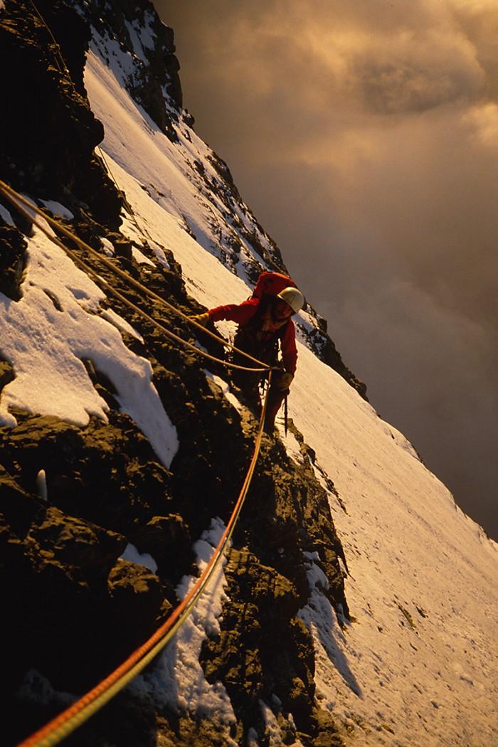 Am Ende des zweiten Eisfeldes - Eiger Nordwand