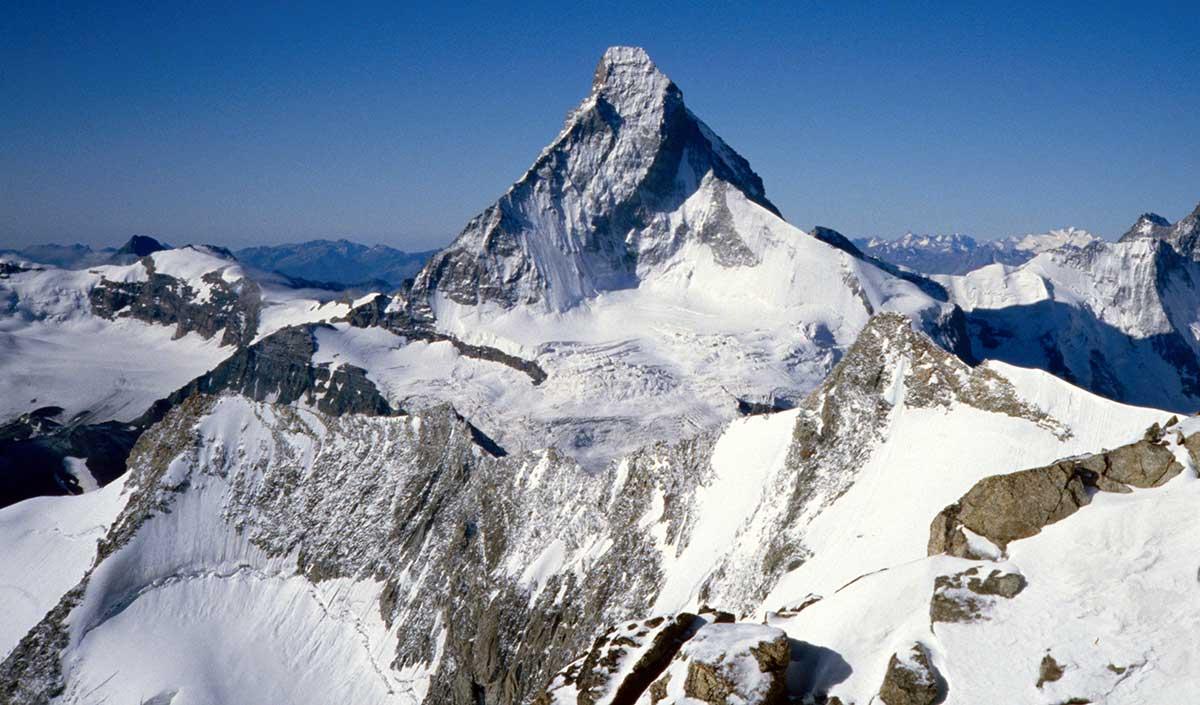 Matterhorn Nordwand vom Obergabelhorn aus