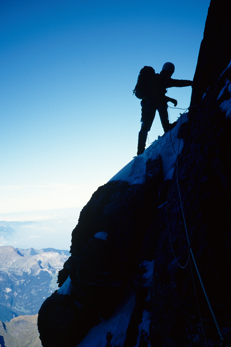 Ausstiegsrisse - Eiger Nordwand
