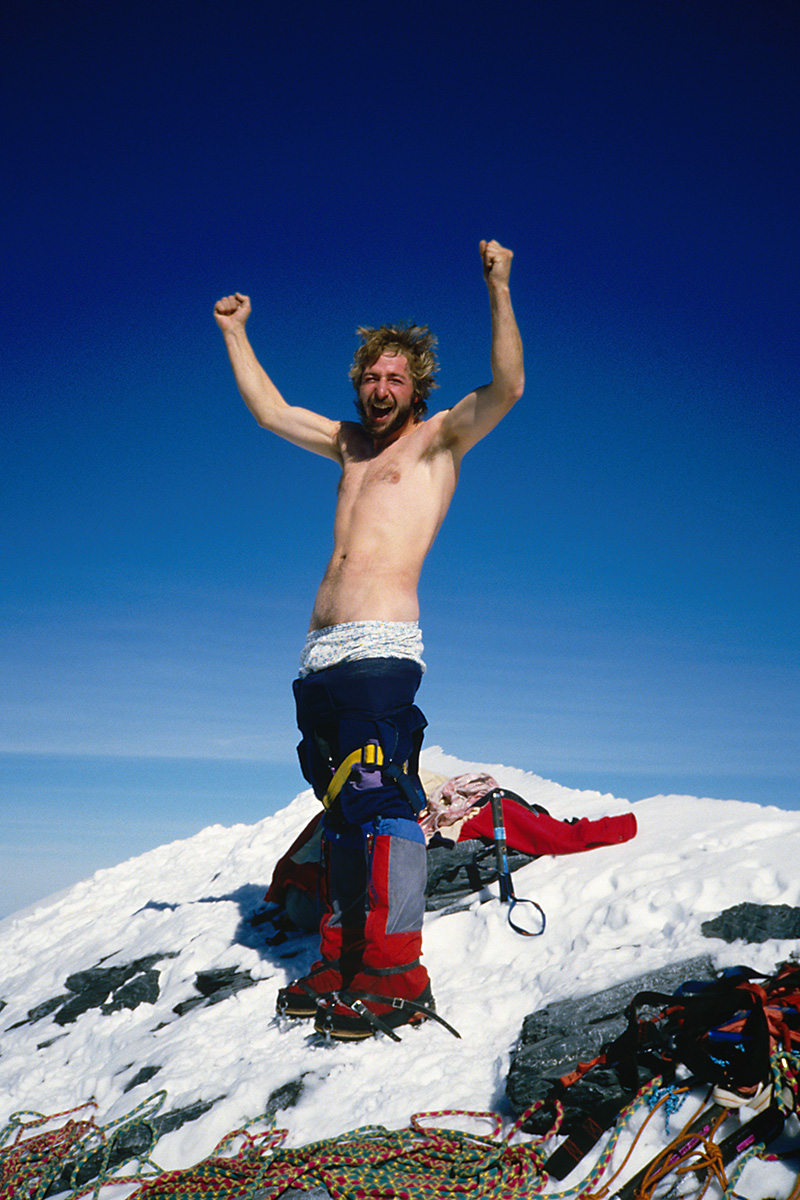 Am Gipfel des Eiger nach der Eiger Nordwand