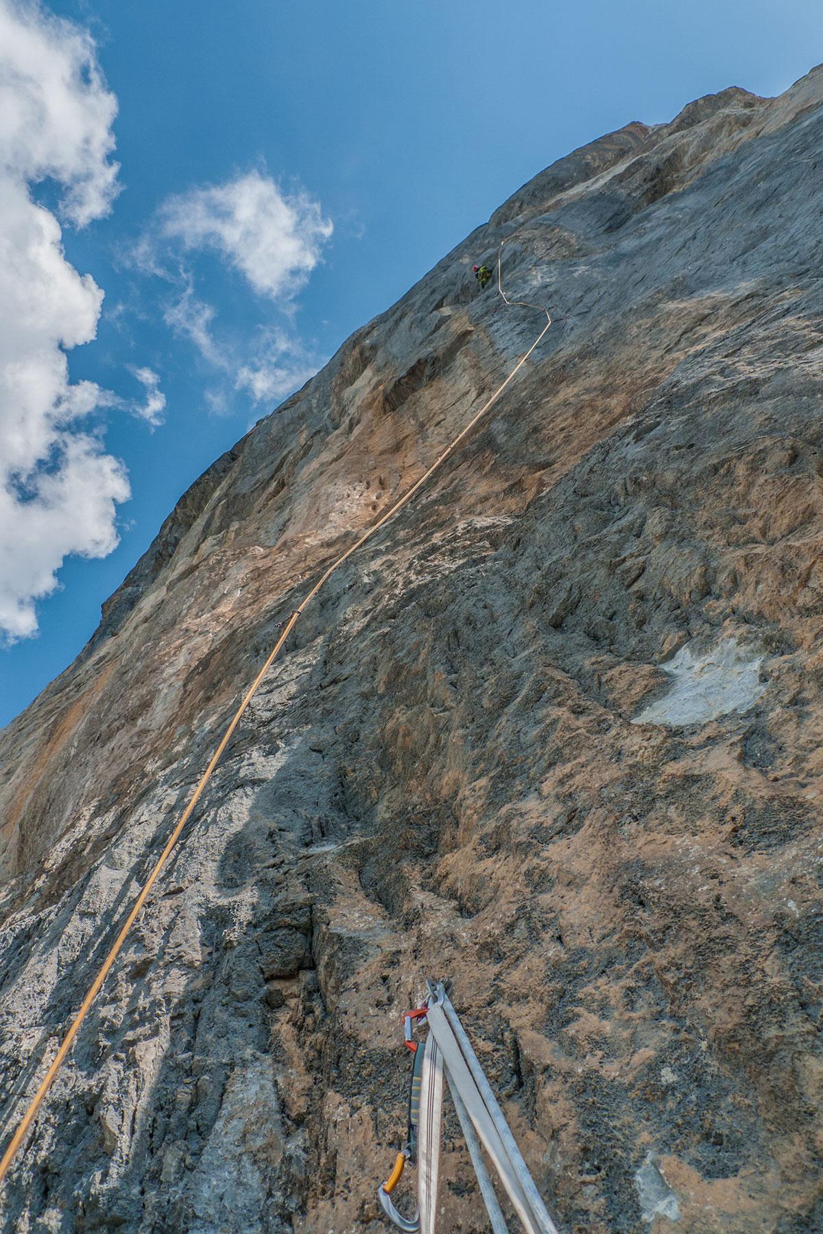 Eiger - Genfer Pfeiler - 5te Seillänge (7a+)