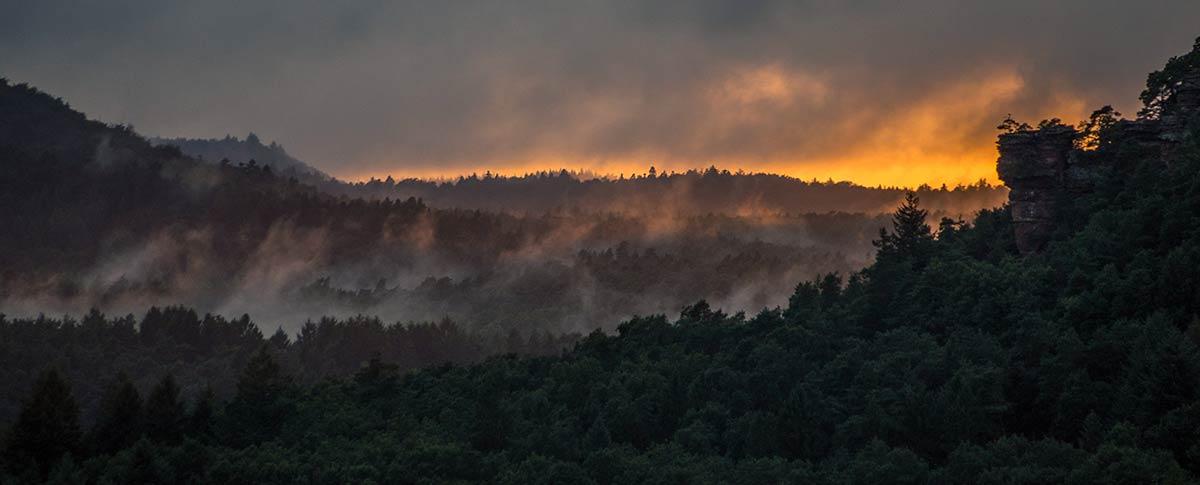 Pfalz, Sunset with Rocks