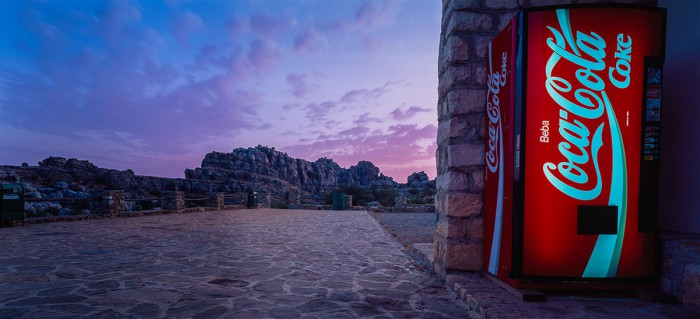 Spain - El Torcal with Coke dispenser