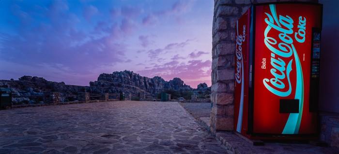 Spanien - El Torcal mit Cola Automat