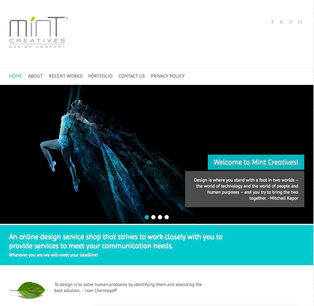 Mintcreatives Webseite
