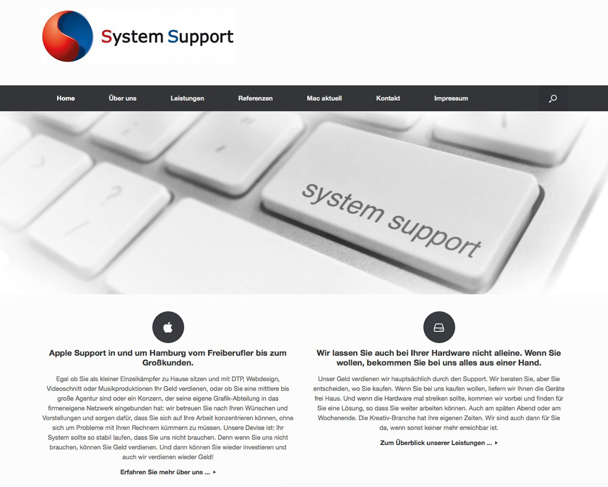 System-Support Webseite
