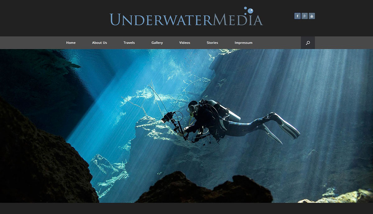 Underwater-Media Webseite