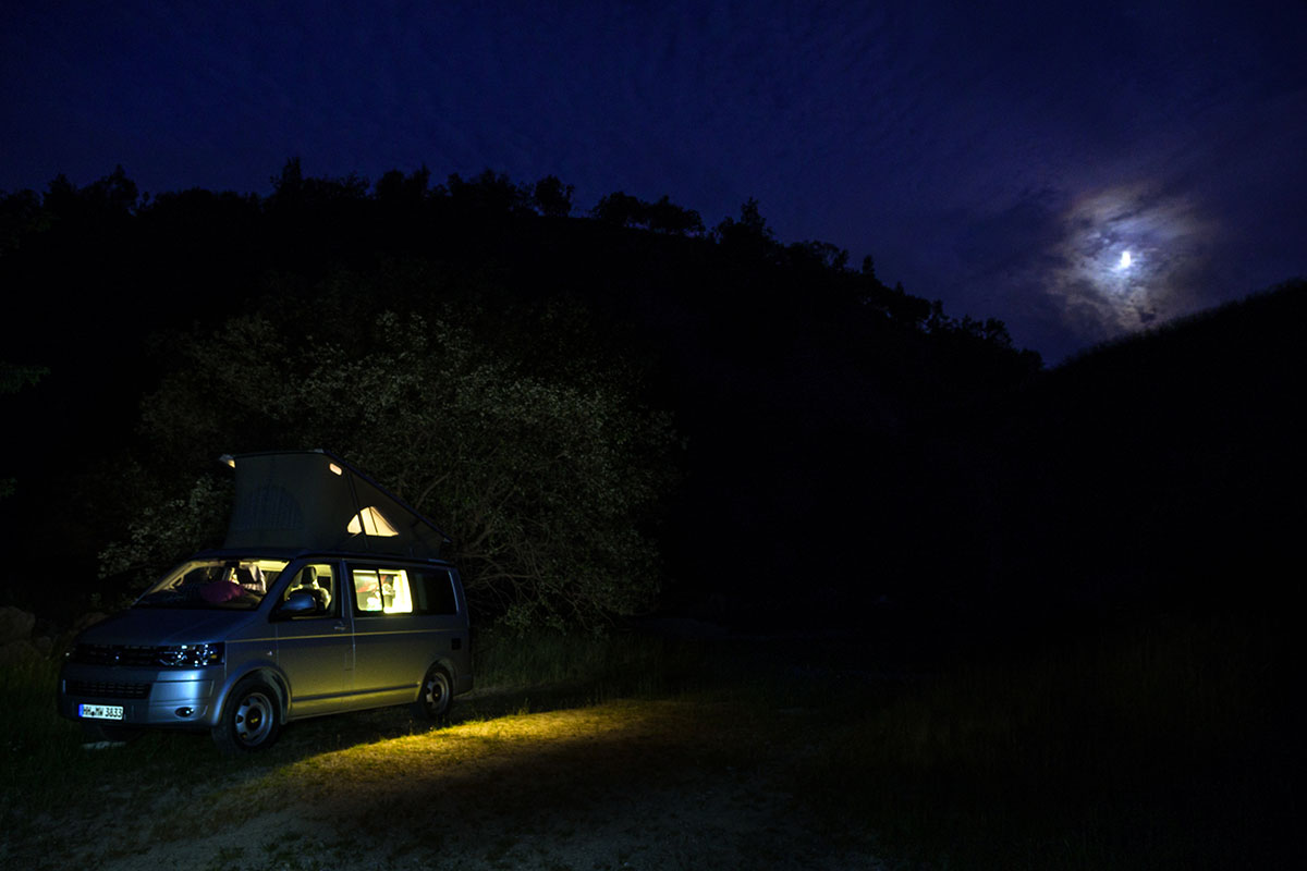 Harz, VW Camper with Moon
