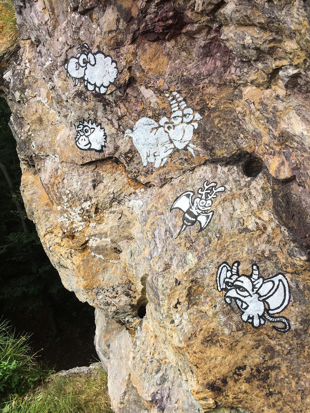 Harz, Krockstein, Graffiti, Trolle