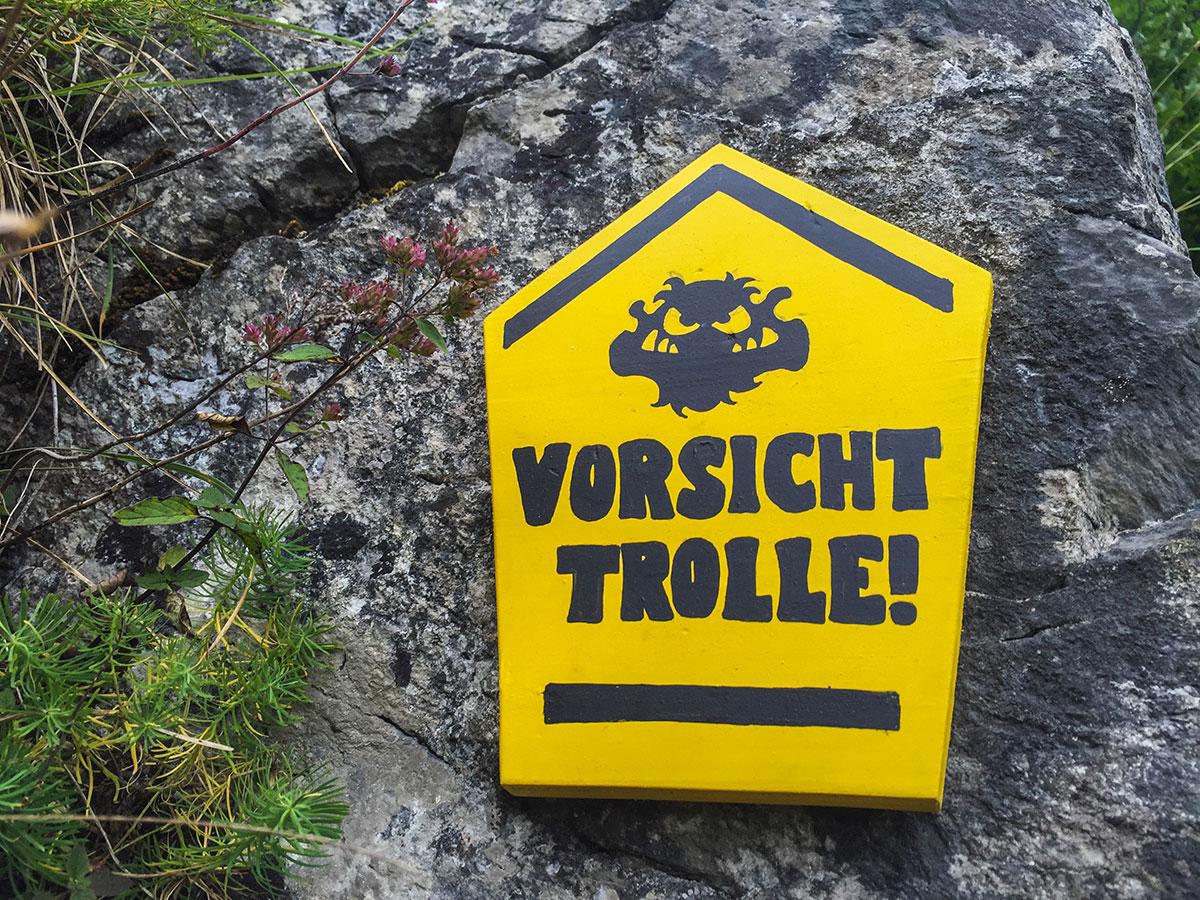 Harz, Krockstein, Vorsicht Trolle