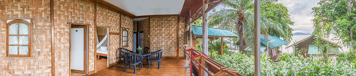 Indonesia, Manado, Bunaken Island, Seabreeze Resort, Bungalow