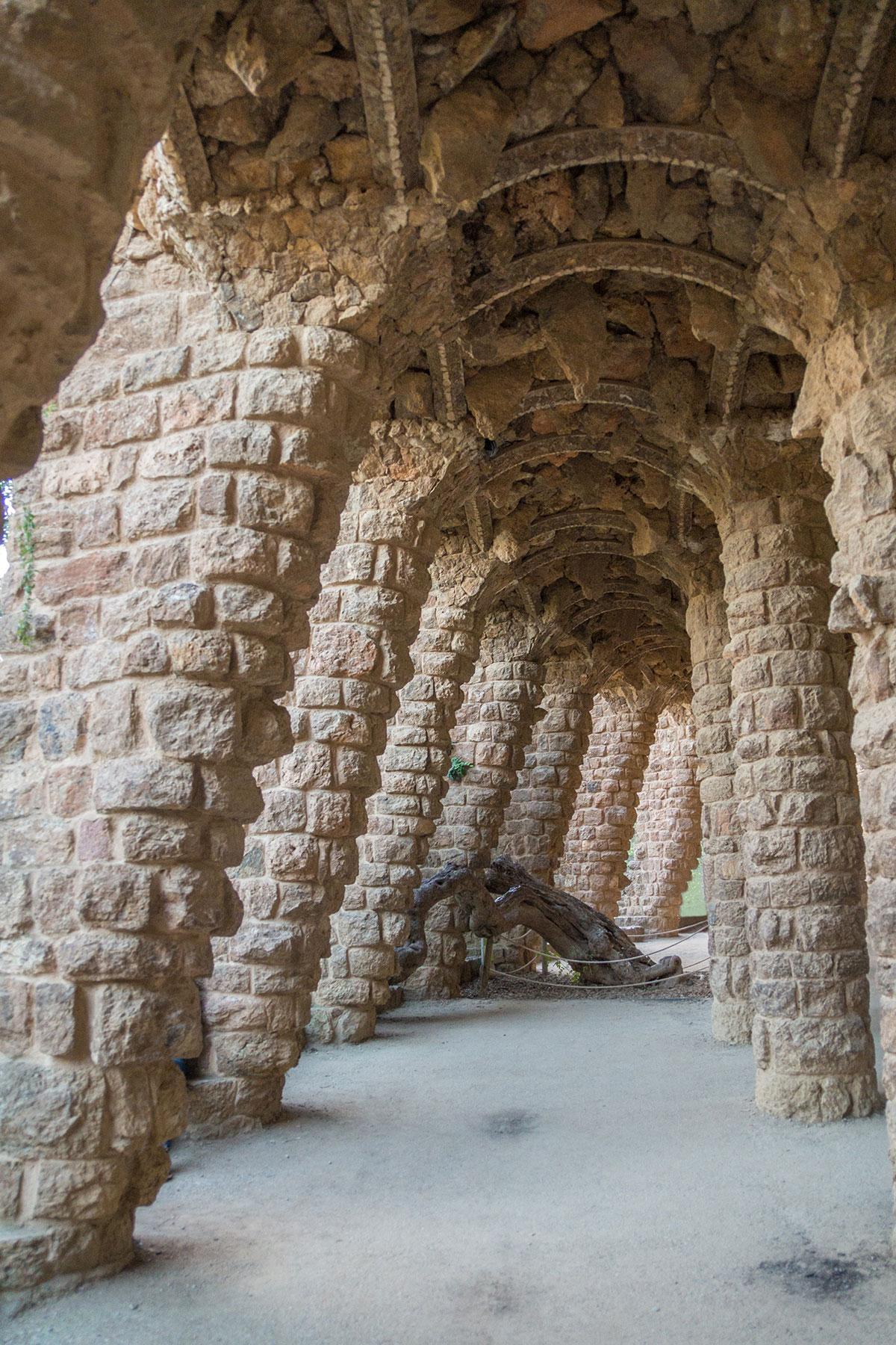 Barcelona - Park Güell - Gewölbe