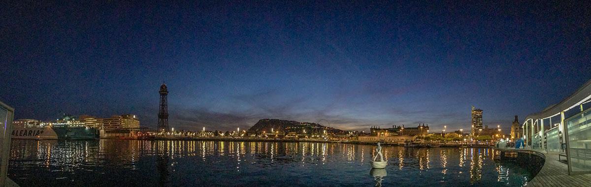 Barcelona - Blick auf Hafen
