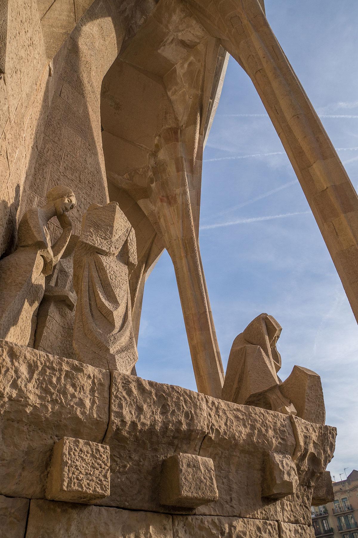 Barcelona - Sagrada Familia - Passionsseiten Fassade