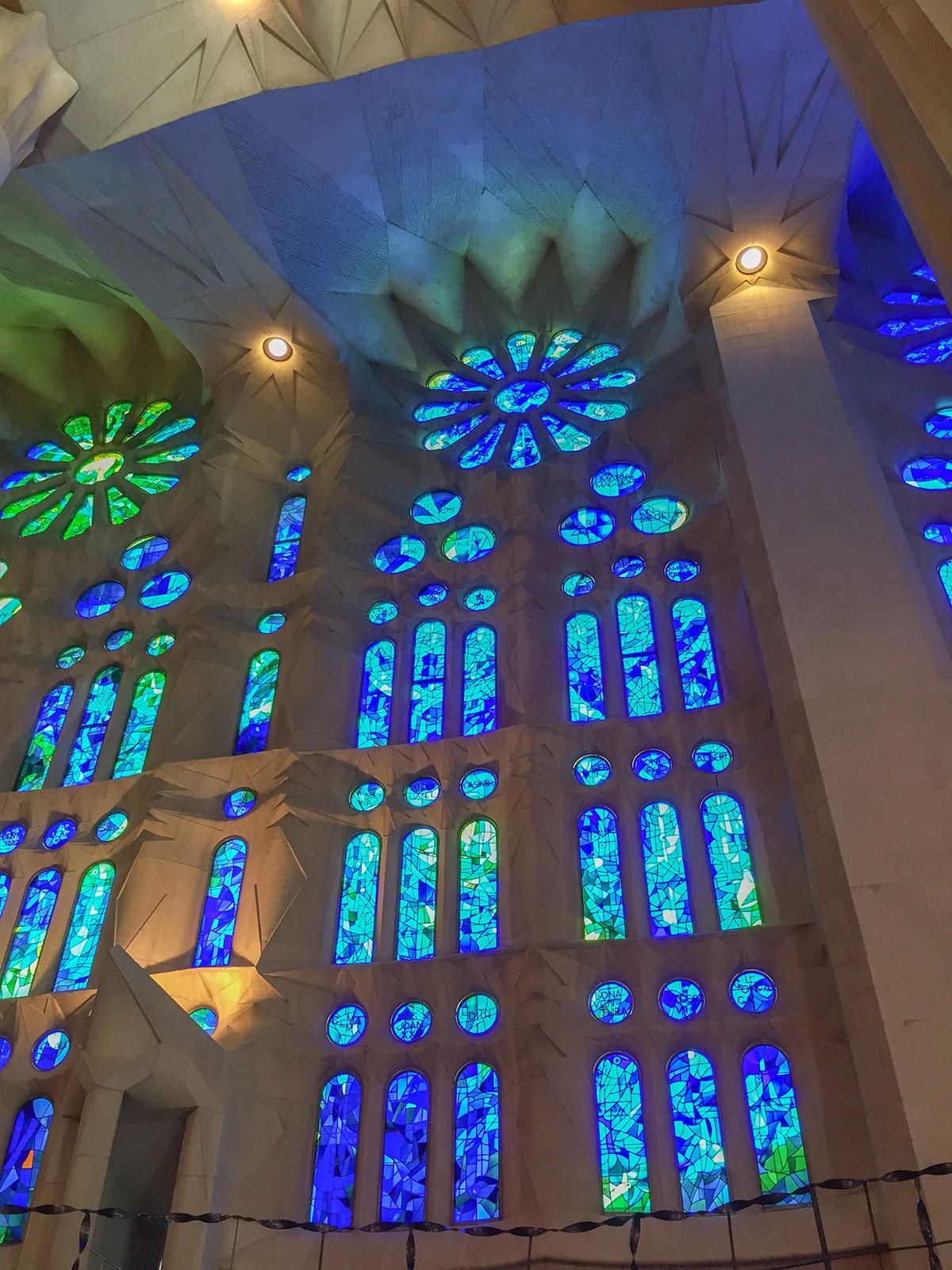 Barcelona - Sagrada Familia - Seitenfenster