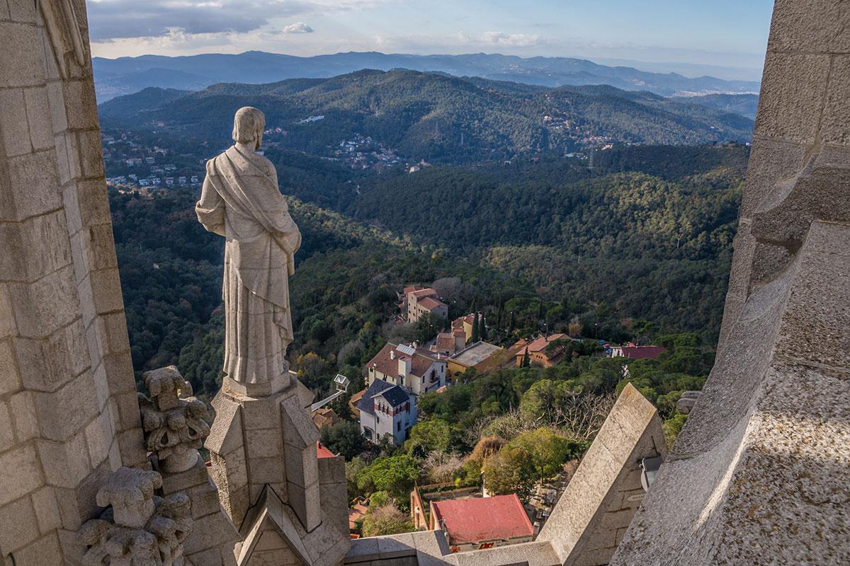 Barcelona Tibidabo - Blick von der Kirche Sagrat Cor