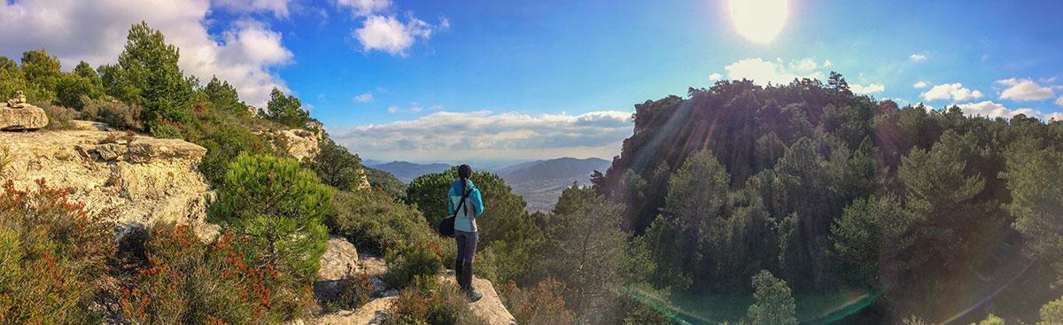 Tarragona - Aussicht beim Zustieg zum Klettern in Arboli