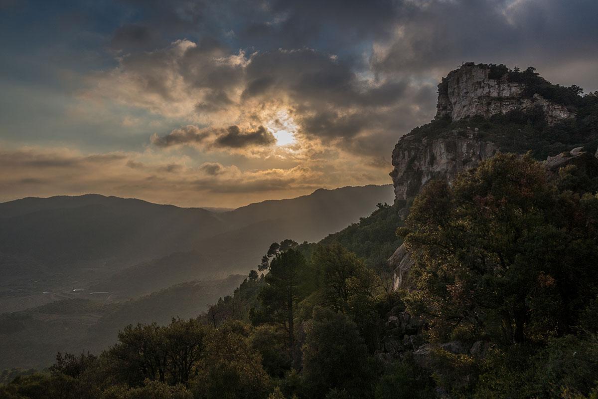 Tarragona - Lichtstimmung beim Klettern in Arboli