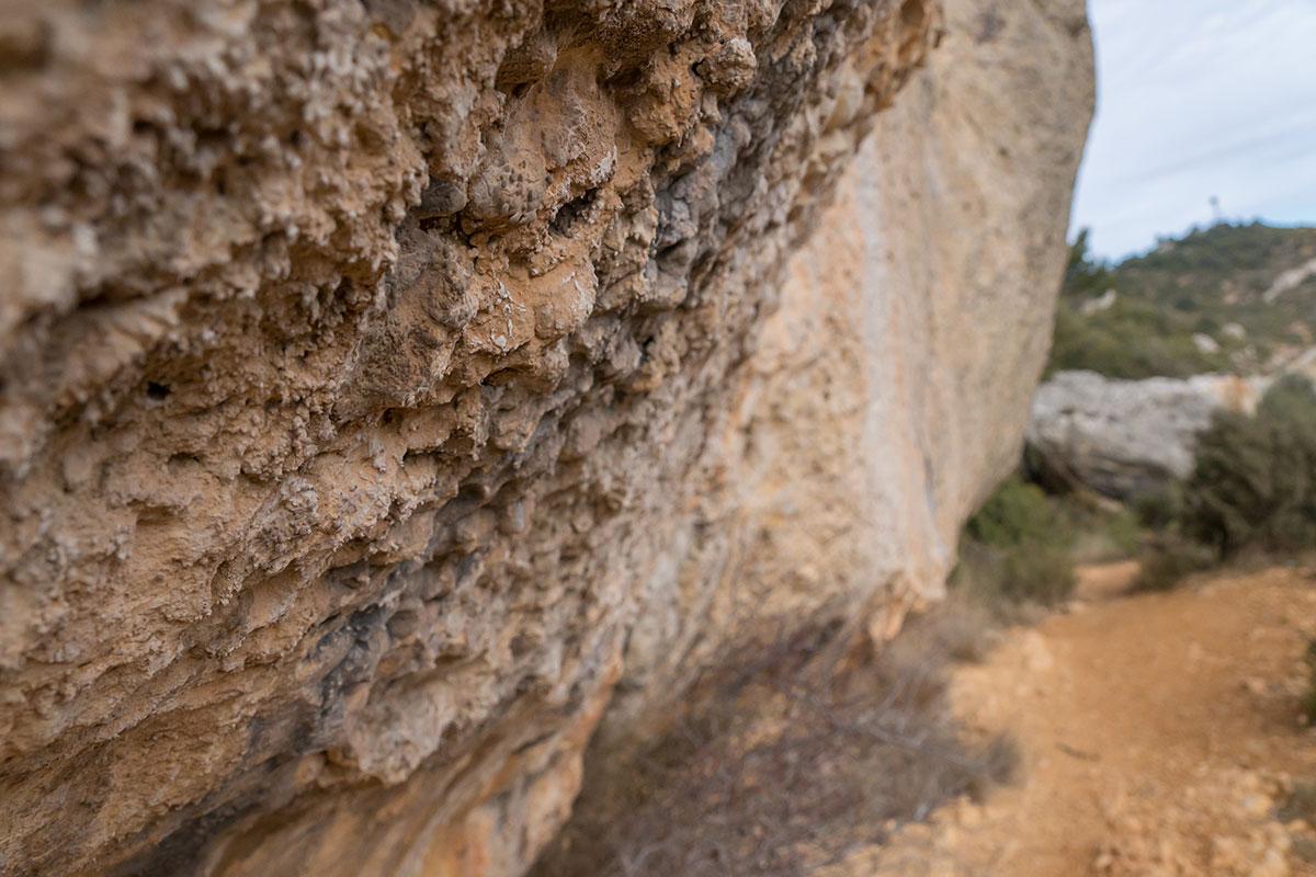 Spain, Catalonia, Region Tarragona, Vilanova de Prades, Conglomeration of Rocks