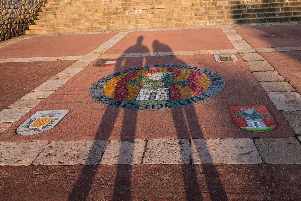 Spanien, Katalonien, Tarragona, Mosaik am Passier de Sant Antoni