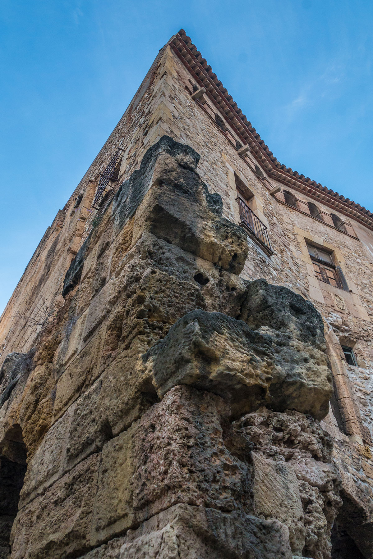 Spain, Catalonia, Tarragona, old wall