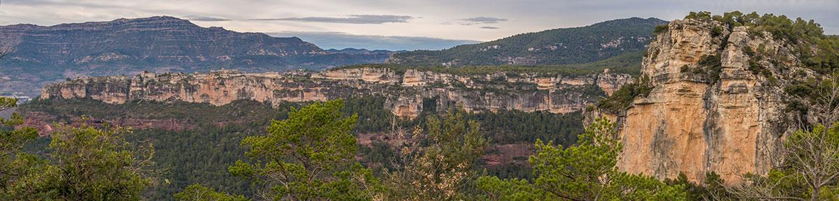 Spanien, Katalonien, Region Tarragona, Felsen von Arbolí, Sektor