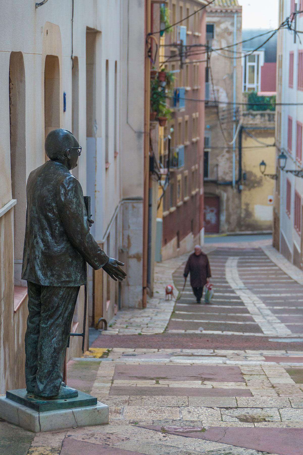 Spanien, Katalonien, Tarragona, Statue