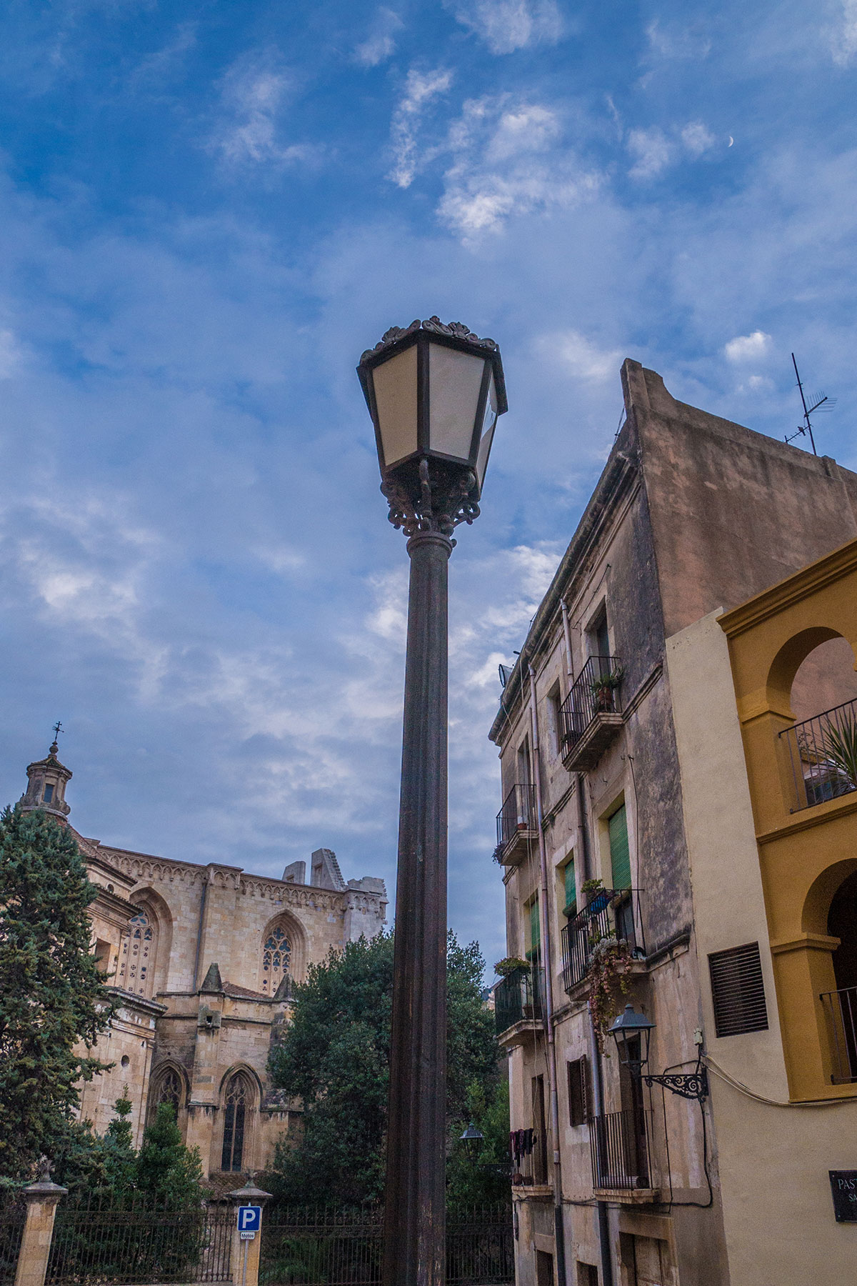 Spanien, Katalonien, Tarragona, Laterne