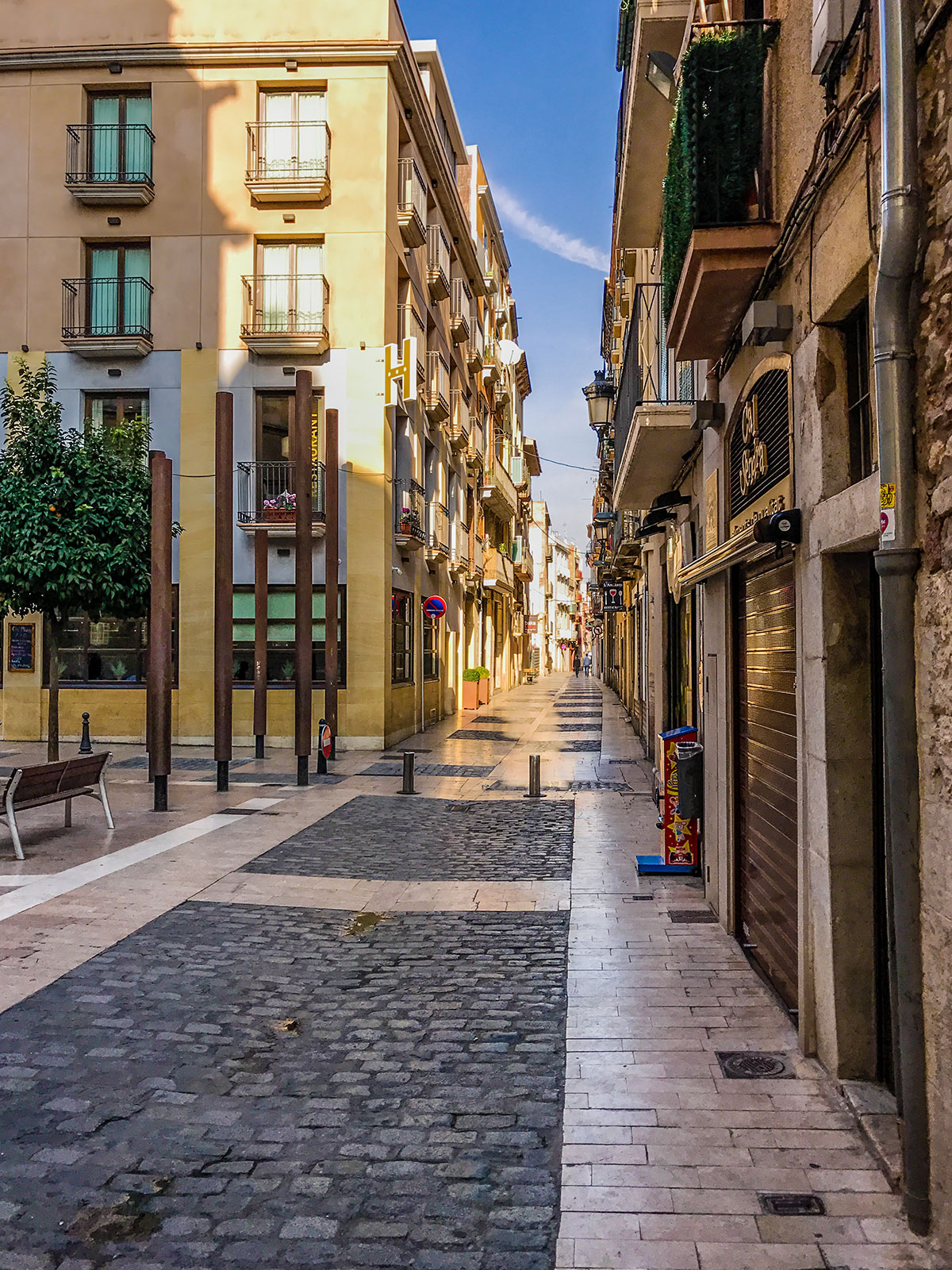 Spanien, Katalonien, Reus, Placa de les Peixateries
