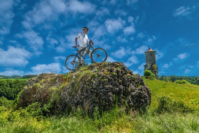 Mountain Biken im Frankenjura - Steinerner Beutel bei Waischenfeld