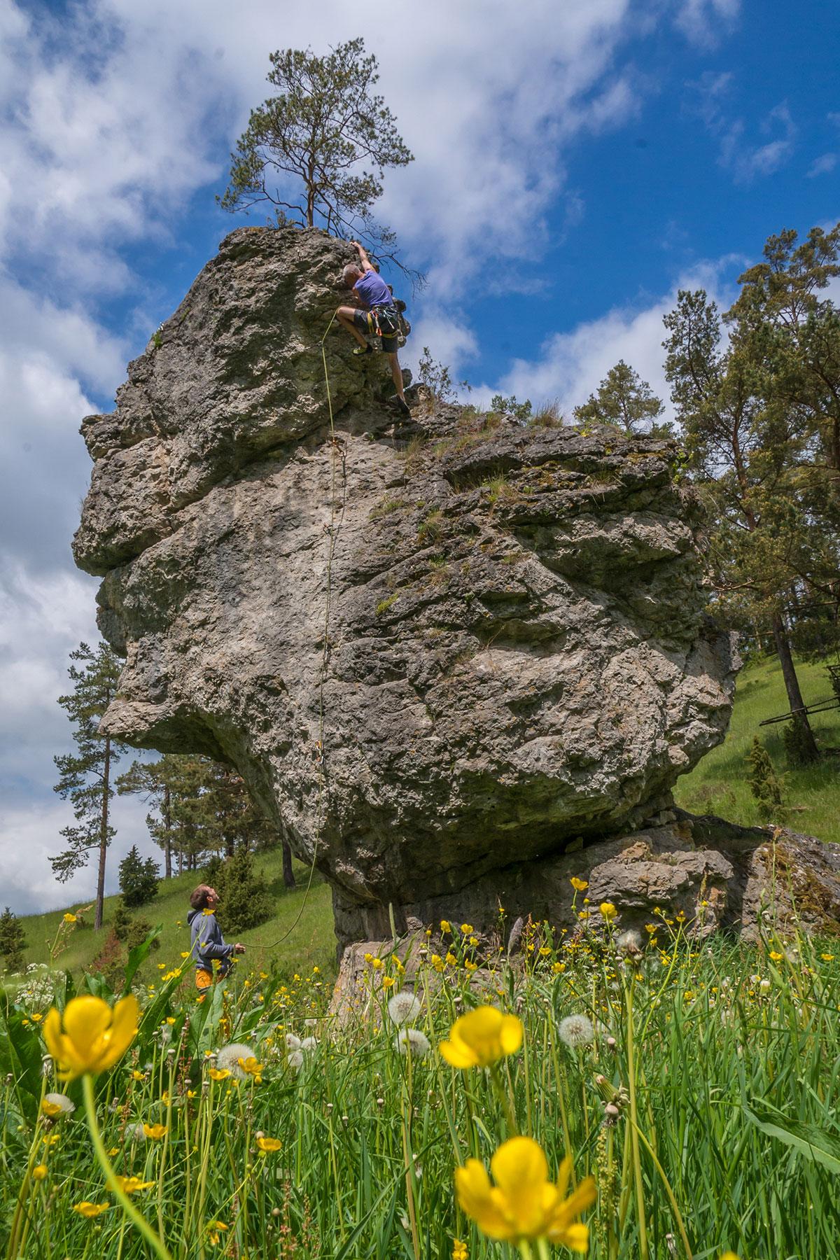 Frankenjura, Spitzenstein, Route
