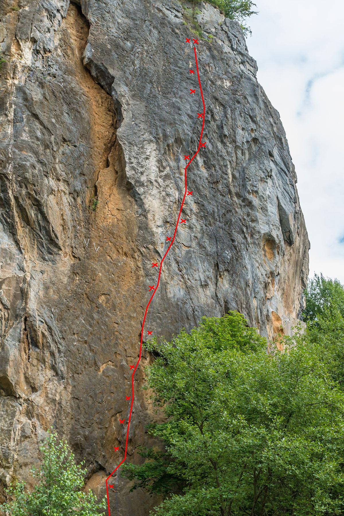 """Warstein, Hillenberg, Route """" Anreise ins Ungewisse"""", 8+/9-"""