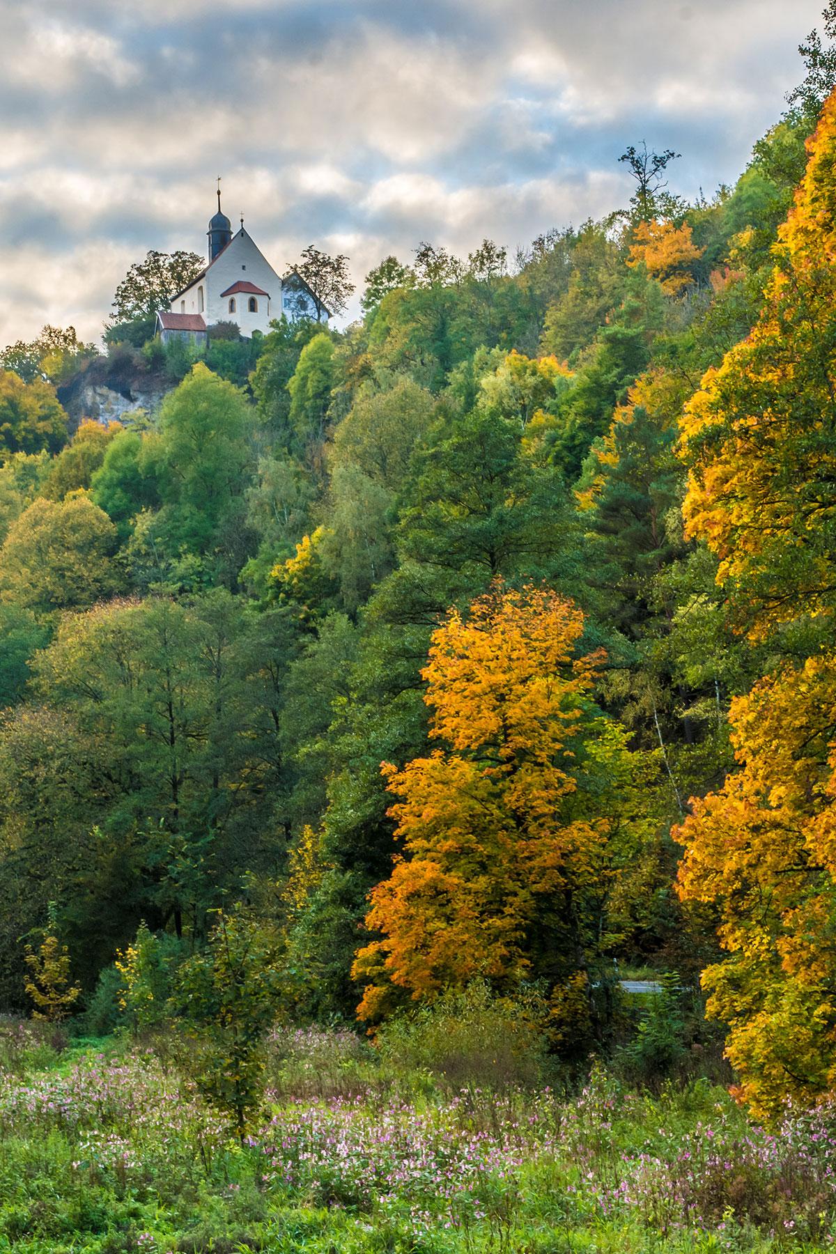 Frankenjura, Ailsbachtal im Herbst
