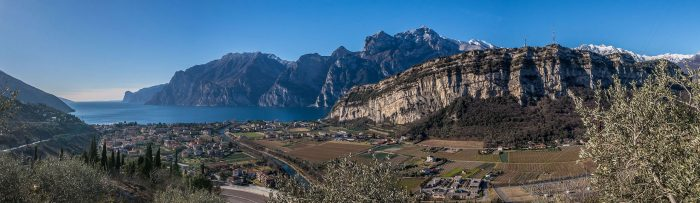 "View of Lake Garda from the rocks in ""Belvedere"""