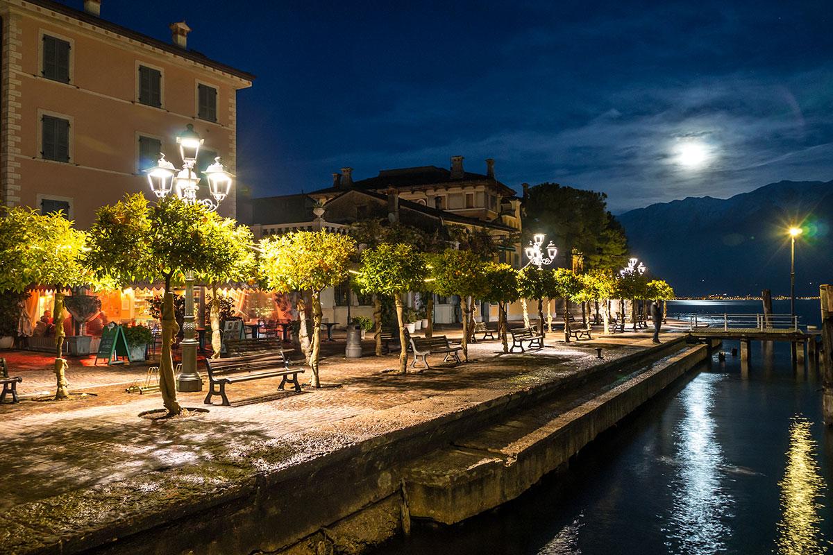 Abendstimmung in Gargnano am Gardasee