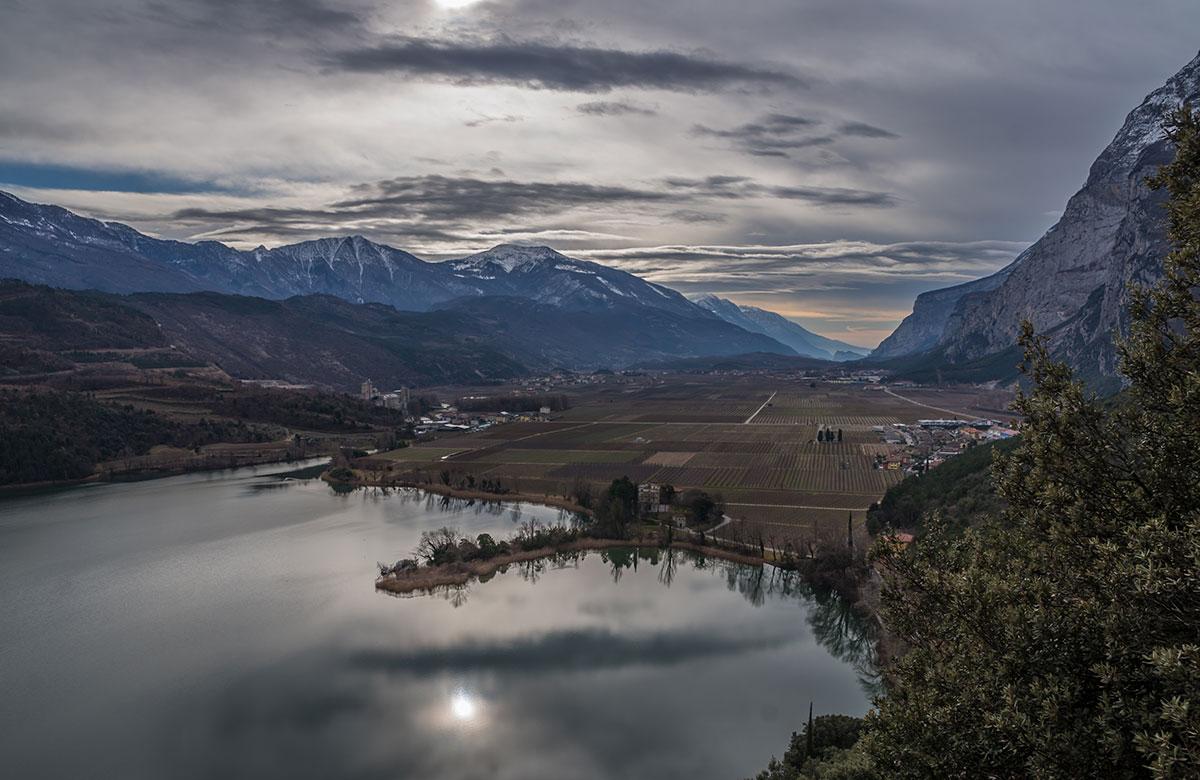 Sarcatal mit Blick nach Arco und Lago di Toblino
